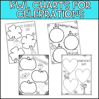 KWL Charts for Celebrations - Freebie