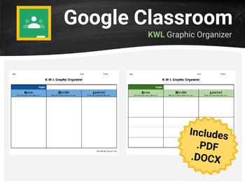 KWL Graphic Organizer - For Google Docs/Classroom