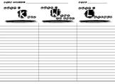 KWL Organizer Chart for Notetaking