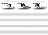KWL Organizer Chart for Notetaking