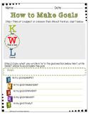 KWL/SMART Goal Setting Worksheet
