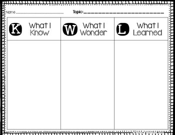 This is an image of Stupendous Printable Kwl Chart
