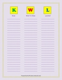KWL Chart (in color)