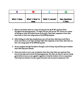 KWLQ Strategy for Non-Fiction Texts
