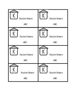 KWT Log-in Cards for Students