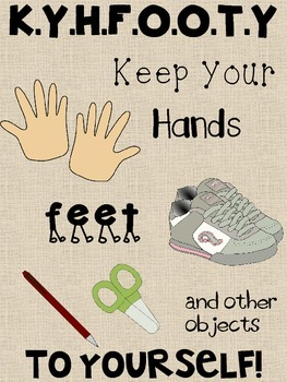 "KYHFOOTY Poster ""Keep Your Hands, Feet, and Other Objects to Yourself"""