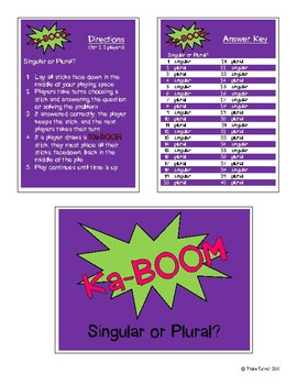 KaBoom: Singular or Plural?