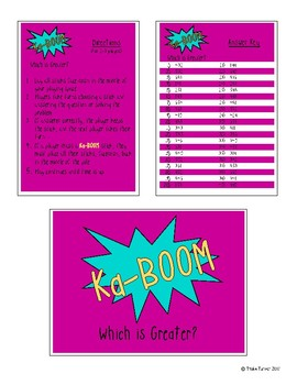KaBoom - Which is Greater: Comparing 3 Digit Numbers