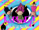 KaBlooEy! Kinds of Sentences