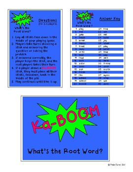 KaBoom - What's the Root Word?