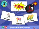 "/dʒ/  or ""j"" all positions- Kablam! Speech Sound Series"