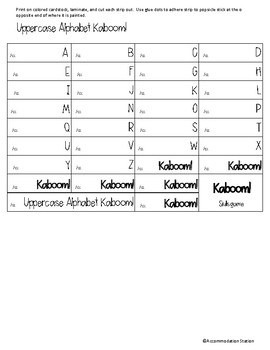 Kaboom! Alphabet game