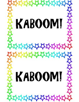 Kaboom Cup Labels