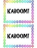 Kaboom Cup Labels
