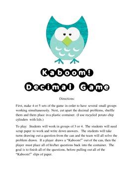 Kaboom!! Decimal Game