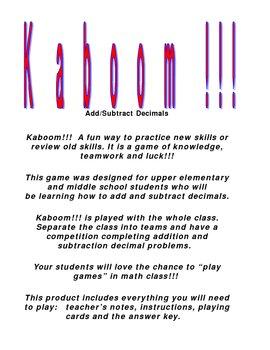 Kaboom!!! Decimal Games Combo