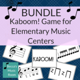 Kaboom! Elementary Music Game for Centers BUNDLE