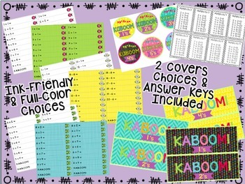 Kaboom! Fast Fact Fluency Practice Game BUNDLE