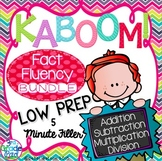 Kaboom! Fast Fact Fluency Practice Game BUNDLE