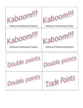Kaboom Fractions