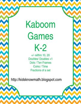 Kaboom Game Templates K-2