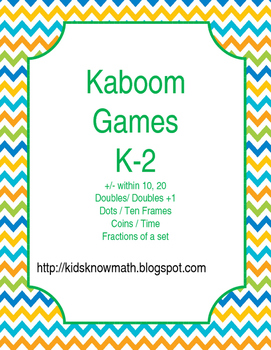 Kaboom Game Templates K-2