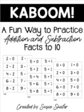 Kaboom! Game for Addition and Subtraction Fact Practice 1-10