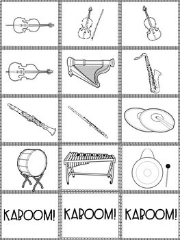 Kaboom! Instruments of the Orchestra Elementary Music Game
