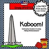 Kaboom!:  LOW PREP George Washington Subtraction Smash It! Play Dough Activity