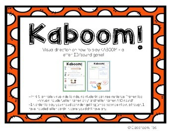 Kaboom! - Letter ID and Letter Sound Game