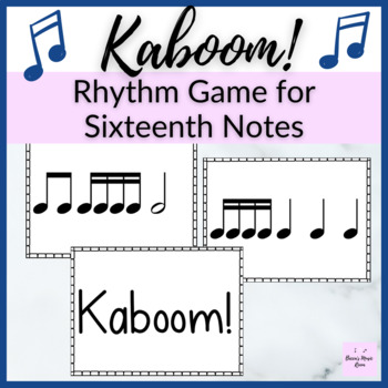 Kaboom! Level 2 Rhythm Game for half note and sixteenth notes