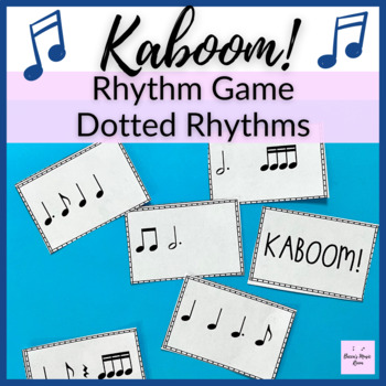 Kaboom! Level 3 Rhythm Game for syncopa, dotted half notes, dotted eighth notes