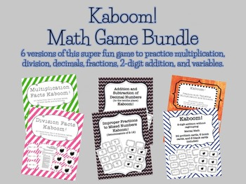 Kaboom Math Game Bundle - 6 games included!