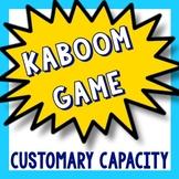 Kaboom Math Game - Customary Capacity Converting Comparing