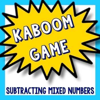 Kaboom Math Game - Subtracting Mixed Numbers