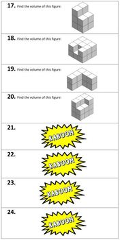 Kaboom Math Game - Volume with Unit Cubes
