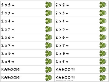 Kaboom! Multiplication Fast Fact Practice Game