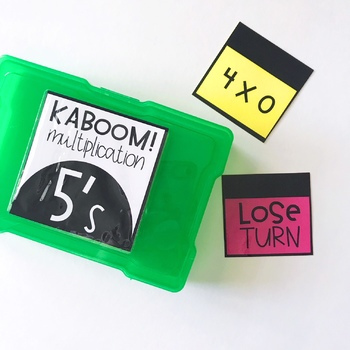 Kaboom Multiplication Game 2's - 12's