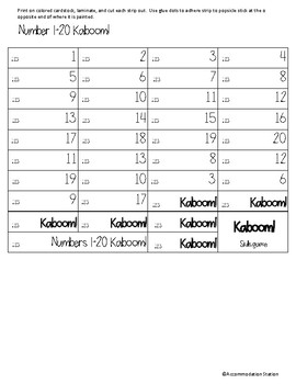 Kaboom! Numbers & Basic Computation Set