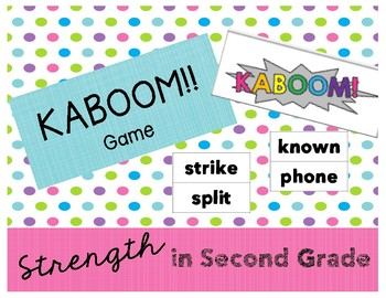 Kaboom!! Phonics Patterns, Digraphs, Fry Sight Words, Game