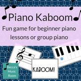 Kaboom! Piano Game for Elementary Music Centers or Beginne