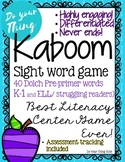 Kaboom Sight Word Game- 40 Dolch Pre-primer words- literac