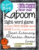 Kaboom Sight Word Game- 41 Dolch First Grade words- literacy center game