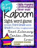 Kaboom Sight Word Game- 41 Dolch Third Grade words- litera