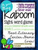 Kaboom Sight Word Game- 46 Dolch Second Grade words- literacy center game