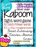 Kaboom Sight Word Game- 52 Dolch Primer words- literacy ce