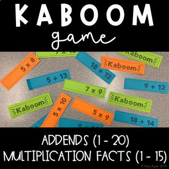 Kaboom Sticks - addition & multiplication fluency