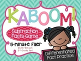 Kaboom! Subtraction Fast Fact Practice Game