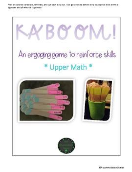 Kaboom! Upper Level Math