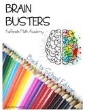 Kaffenate BRAIN BUSTERS--BACK to SCHOOL Edition